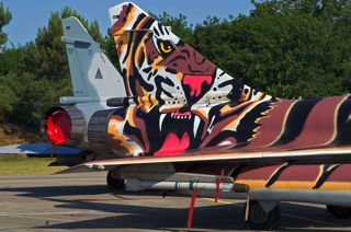 Tiger tails of a Mirage 2000-5F and 2000C