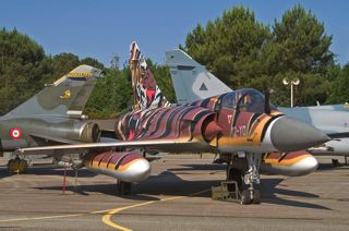French Air Force Mirage 2000C, 12-YO / 113, EC.01.012 in striking tiger color scheme