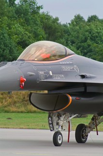 F-16AM, J-055, 311 squadron of the 2005 F-16 demoteam