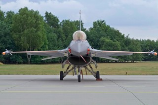 F-16AM, J-055, 311 squadron parked at the 311 line at Volkel Air Force Base