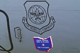 Markings on a US Air Force KC-135