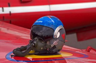 Helmet of Belgian Magister pilot