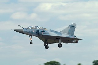 Mirage 2000B, 509 / 5-OK, EC.02.005 on approach of Fairford