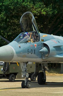 French Mirage 2000 solo display pilot prepares for next demo