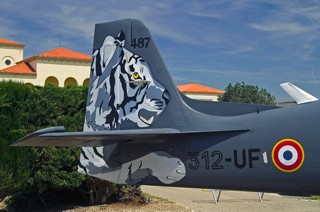EMB.312F, 312-UF / 487, EPNAA.05.312 tail section with tiger markings
