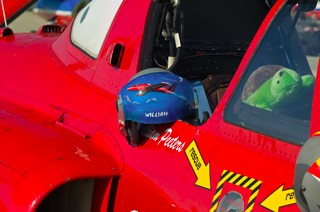 Helmet of Fouga Solo Display pilot Lieutenant Colonel Paul Rorive