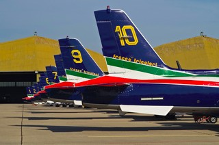Tail line of Frecce Tricolori