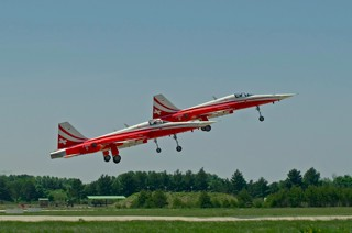 Patrouille Suisse in take off