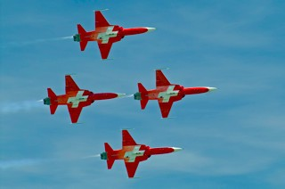 Patrouille Suisse in Diamond formation