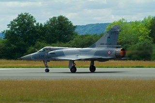 Mirage 2000C, 5-OC / 36, EC.02.005 in take off with full afterburner