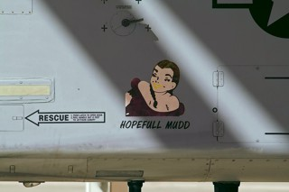 'Hopefull mud' nose-art on A-10C, 80-0232 / BD, 917 W / 47 FS