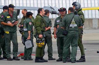 Debriefing on the ramp