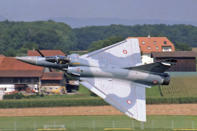 French Mirage 2000C departing at Payerne